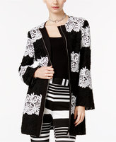INC International Concepts Striped Lace Peacoat, Only at Macy's