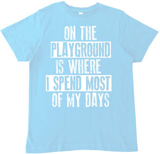 Micro Me Boys' Tee Shirts Lt. - Light Blue 'On the Playground' Tee - Toddler & Boys