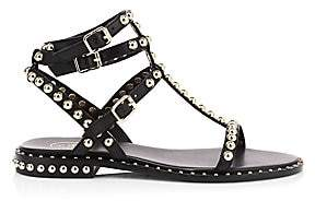 Ash Women's Play Stud Leather Ankle Strap Sandals