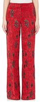 Derek Lam Women's Floral Jacquard Wide-Leg Trousers