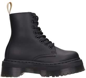 Dr. Martens Jadon Ii Mono Combat Boots In Black Faux Leather