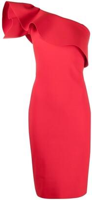 Le Petite Robe Di Chiara Boni One-Shoulder Ruffle Dress