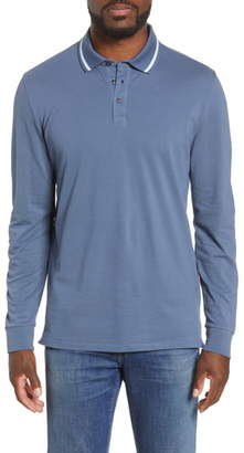 Bonobos Slim Fit Tipped Long Sleeve Pique Polo