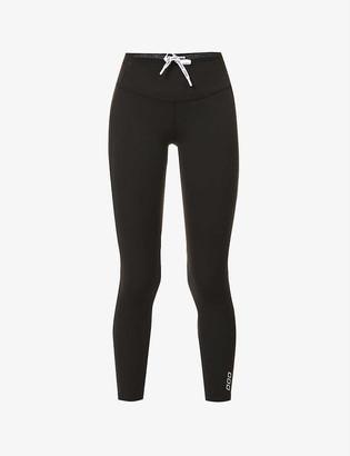Lorna Jane Curves logo-print 7/8 stretch-jersey leggings