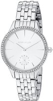 Karen Millen Women's Quartz Brass-Plated and Stainless Steel Dress Watch, Color:Silver-Toned (Model: KM112SMA)