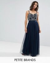 Maya Petite Cami Strap Bow Back Embellished Maxi Dress