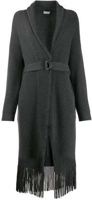 Brunello Cucinelli Ribbed Knit Cardigan Coat