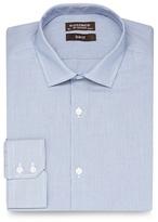 St George By Duffer Big And Tall Light Blue Fine Stripe Slim Fit Shirt