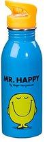 Mr Men & Little Miss Mr Men and Little Miss Mr Happy Water Bottle, Blue