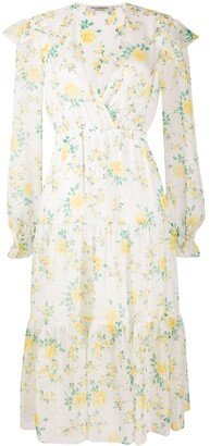 Philosophy di Lorenzo Serafini Tiered Floral-Print Chiffon Midi Dress