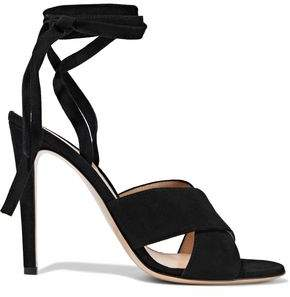 Gianvito Rossi Crissy Lace-Up Suede Sandals