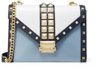 MICHAEL Michael Kors Whitney Large Studded Tri-color Leather Convertible Shoulder Bag