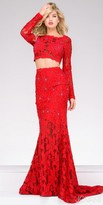 Jovani Fitted Two Piece Embellished Lace Prom Dress