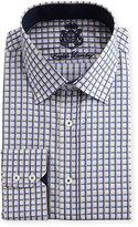 English Laundry Checked Cotton Dress Shirt, Tan