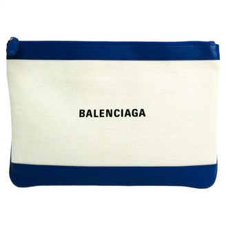 Balenciaga Navy cabas Ecru Cloth Clutch bags