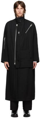 Yohji Yamamoto Black Wool Zippered Army Coat