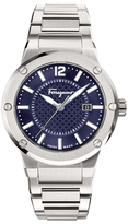 Salvatore Ferragamo F-80 Blue Dial Stainless Steel Watch, 44mm