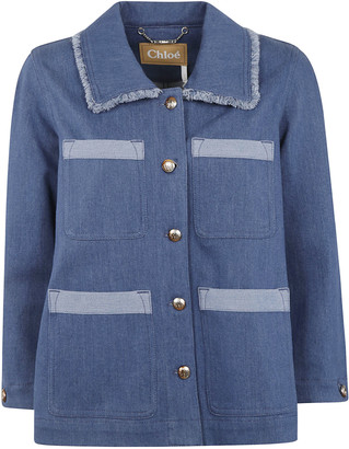 Chloé Denim Wide Buttoned Jacket