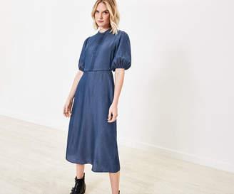 Oasis Lace Pintuck Denim Dress