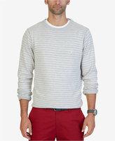 Nautica Men's Fine Striped Crew-Neck Sweater