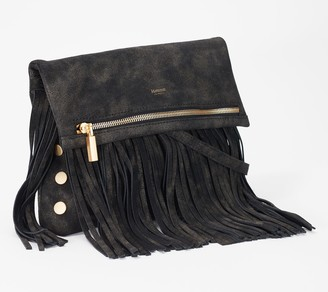 Hammitt Foldover Leather Crossbody with Fringe - VIP