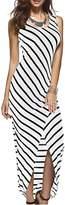 YACUN Women's Stripe Sleeveless Maxi Casual Dress M