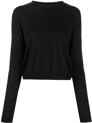 Marni Drop-Shoulder Contrast-Trim Sweater
