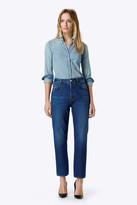 J Brand Ivy High-Rise Crop Straight in Entice