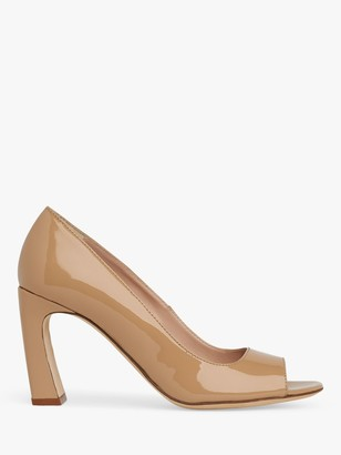 LK Bennett Harper Patent Peeptoe Court Shoes