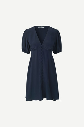 Samsoe & Samsoe Petunia Short Dress Night Sky - viscose | night blue | small (36-38) - Night blue