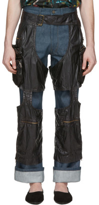 Dries Van Noten Black Chaps Trousers