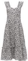 Gioia Bini Camilla Ruffle-trimmed Linen Dress - Womens - Black Multi