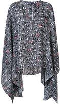 Thomas Wylde 'Smoke' cape blouse - women - Silk - M