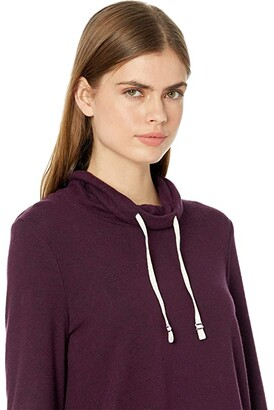 Lucky Brand Tunnel Neck Cloud Jersey Pullover (Wine Tasting) Women's Clothing