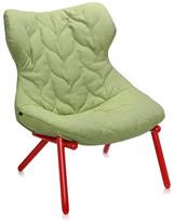 Kartell Foliage Red Legs Armchair - Green Trevira