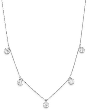 Bloomingdale's Diamond Bezel Set Dangle Station Necklace in 14K White Gold, 1.0 ct. t.w. - 100% Exclusive