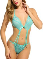 Avidlove Sexy Lingerie for Women Teddy Nightwear Lace Babydoll Bodysuit L