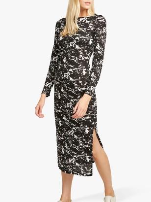 French Connection Lawson Print Dress, Black/White