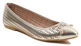 George Laser Cut Pointed Ballet Shoes