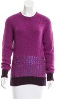 Tomas Maier Foil-Accented Alpaca-Blend Sweater w/ Tags