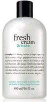 philosophy Fresh Cream & Mint Shampoo, Shower Gel & Bubble Bath