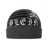 Philipp Plein Philipp PleinBoys Grey Merino Wool Hat