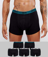 Asos Trunks In Black With COLORED Branded Waistband 5 Pack SAVE
