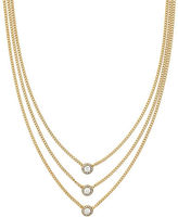 Cole Haan Three-Row Goldplated Necklace