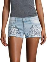 Hudson Embroidered Cut-Off Shorts