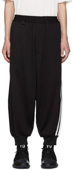 Y-3 Black 3-Stripe Track Pants