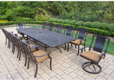 Oakland Living Vanguard 13 Piece Dining Set with Cushions