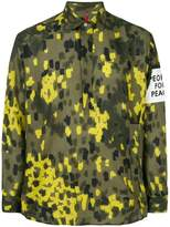 Oamc patch detail camouflage shirt