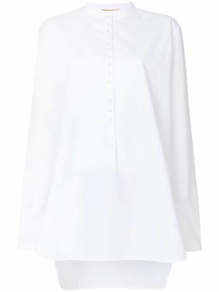 Saint Laurent buttoned long blouse