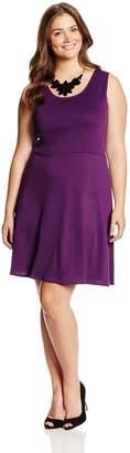 Star Vixen Women's Plus-Size Sleeveless Ponte Dress